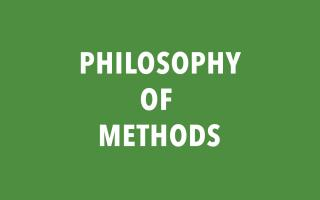 Philosophy of Methods